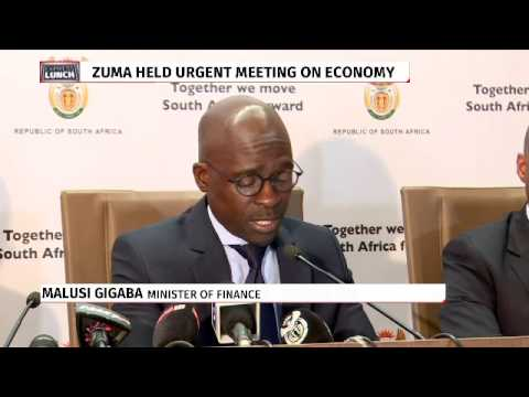 Gigaba briefs media on way forward for SA economy