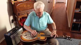 earl farnsworth playing blue eyes crying in the rain on dobro steel guitar 1-18-15