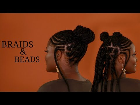African Tribal Braids and Beads Hair Tutorial