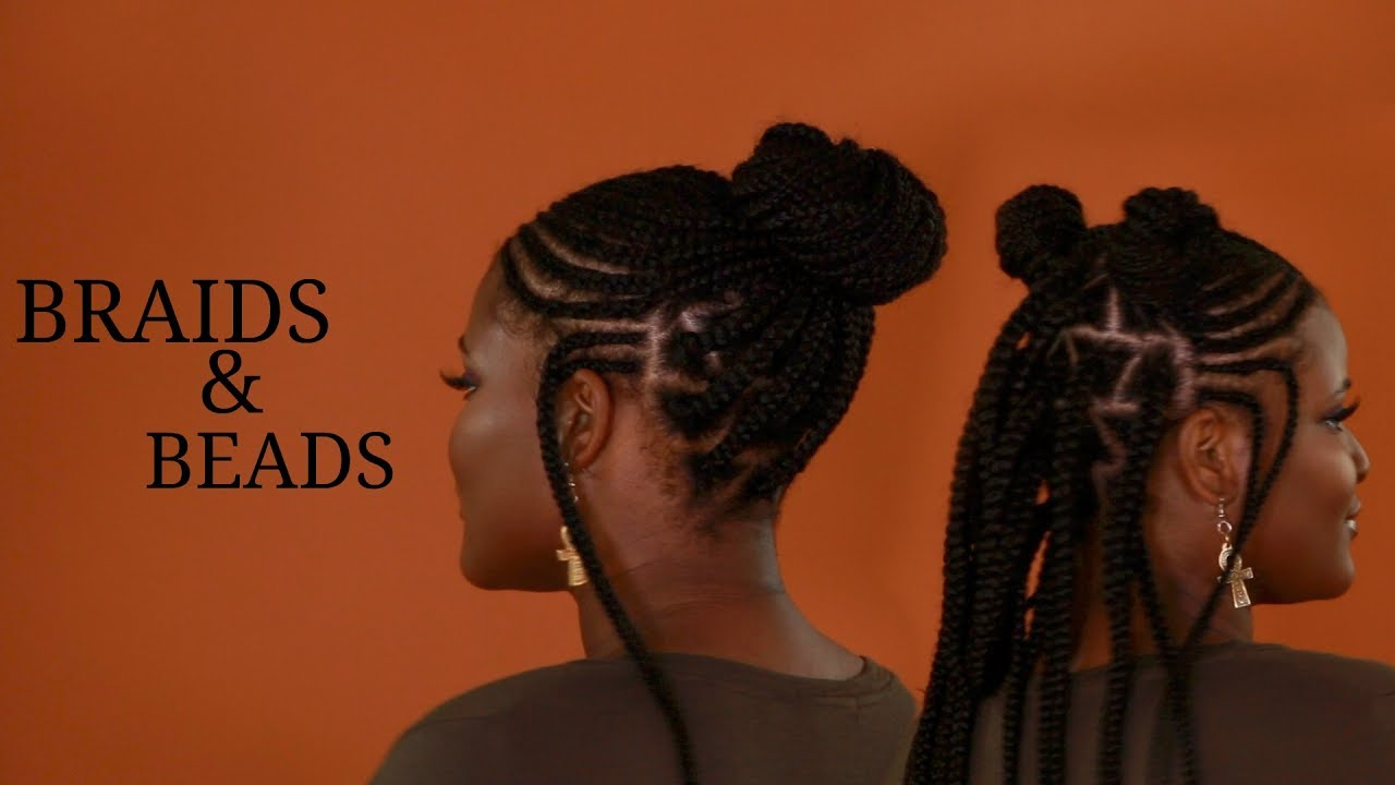 Hair Styles Braids With Beads: African Tribal Braids And Beads Hair Tutorial