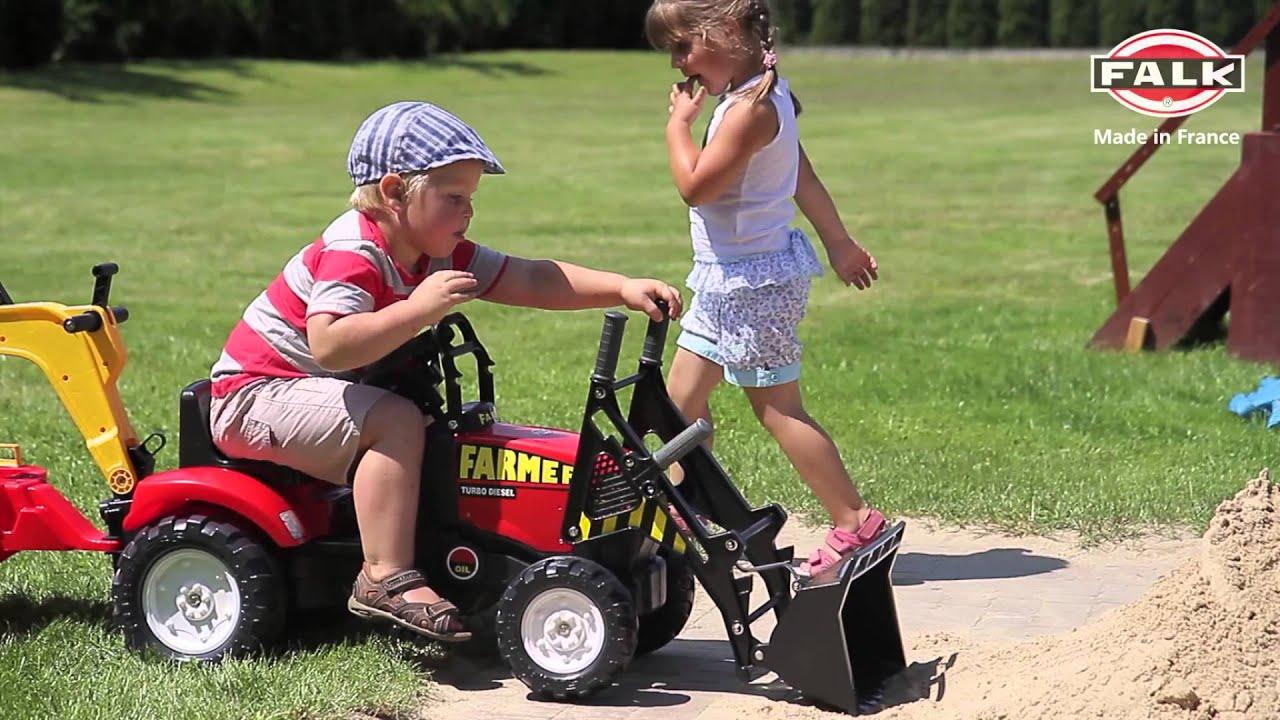 Traktor, koparka na pedały dla dzieci firmy FALK! Reklama   -> Kuchnia Dla Dzieci Z Ekspresem