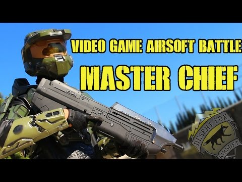 Video Game Character Airsoft Battle as Master Chief (Hollywood Sports Park)
