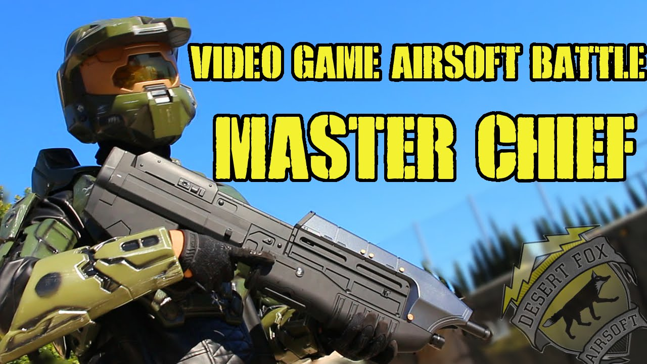 Download Video Game Character Airsoft Battle as Master Chief (Hollywood Sports Park)