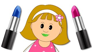 Download Let's Play With Color Lipstick | Elly's Funny Make Up Face With Finger Family Song Mp3 and Videos