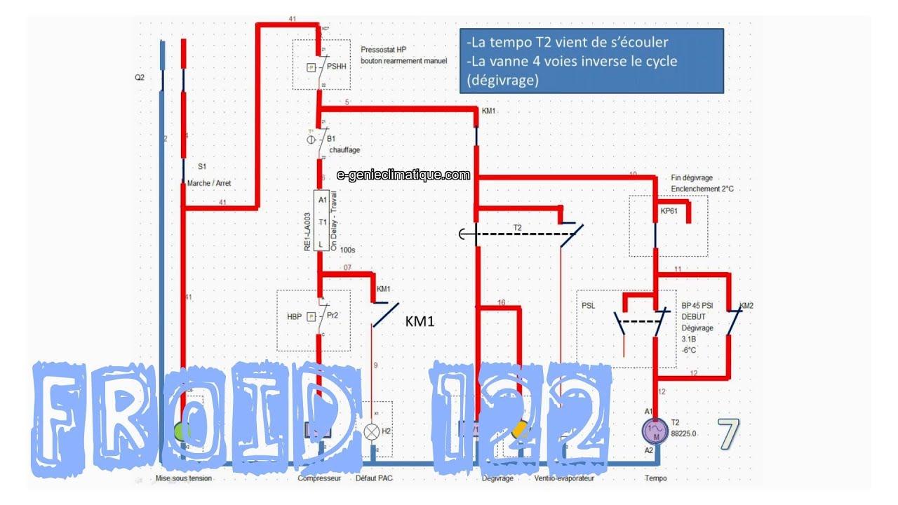 Froid122 pac le d givrage en logique c bl e sans r gulateur sch ma lectrique explication youtube - Schema electrique chambre froide ...