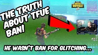 THE TRUTH AND PROOF ABOUT TFUE BAN! It wasn't for glitching...