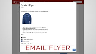 how to make an email flyer