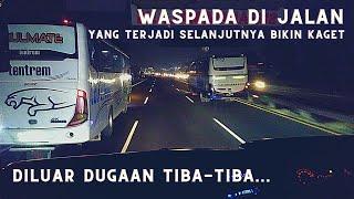 Cukup Dilihat Jangan Ditiru Bus Jawa Timur Lagi Asyik Adu Top Speed Tiba-Tiba Braak