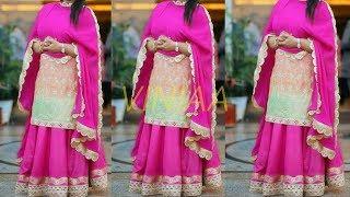 Long Kurti with Skirt || Designer Kurta with Lehenga || Lehenga With Kameez