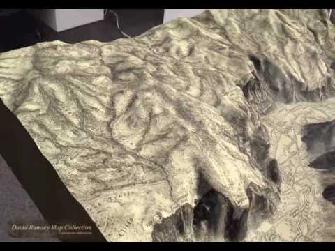 David Rumsey - Augmented Reality for Old Maps (ARKit demo with terrain)