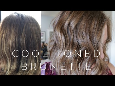Cool Toned Brunette || Hair Tutorial
