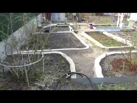 видео: Стенки грядок из бетона