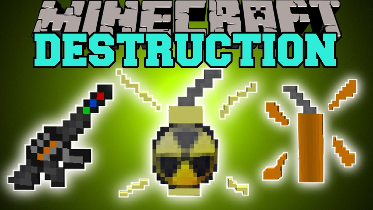 Minecraft Destruction Insta Kill Gun Insane Dynamite