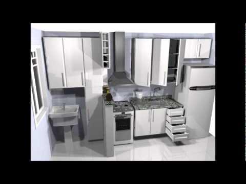 Projeto em 3D de cozinha planejada  YouTube