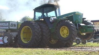 John Deere 4240S Going Full Madness to get The Sled To The Finish Line   Tractor Pulling DK