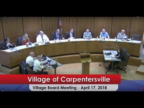 Village of Carpentersville Illinois | Board Meeting 04-17-2018