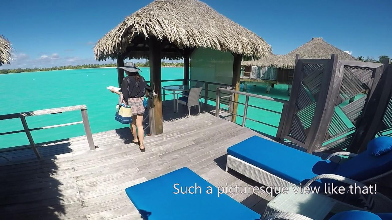 St. Regis Borabora Overwater Superior Villa tour - YouTube