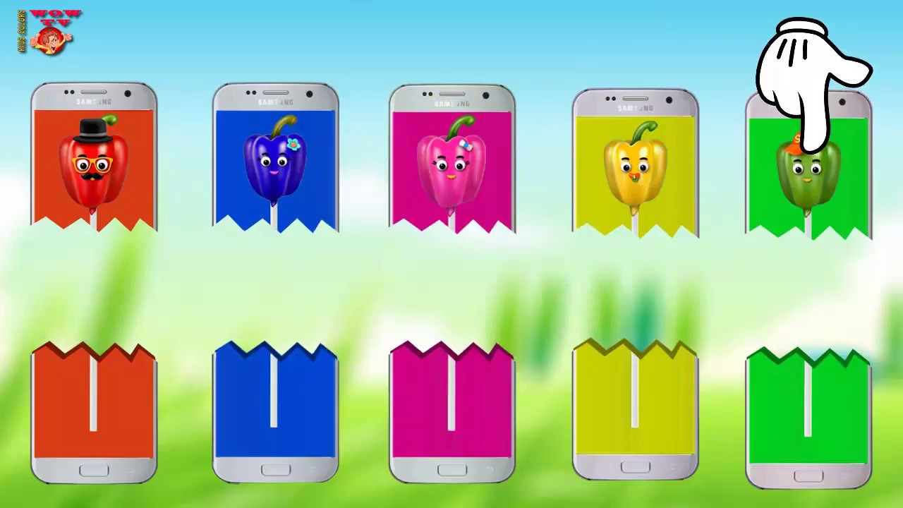 Learn Colors Chili Peppers Cake Pop Finger Family Song - Phone Wrong ...