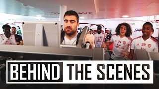 BEHIND THE SCENES | Arsenal squad in the gym | Papa shows his strength