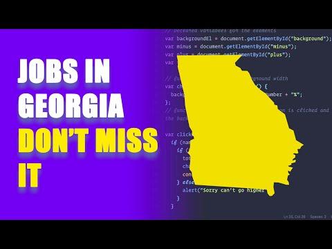 Web Development Jobs In GEORGIA  (Atlanta, Augusta, Savannah)