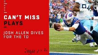 Josh Allen Dives for the TD After Titans Turnover