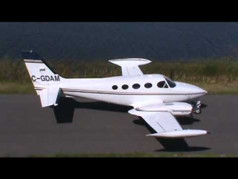 Cessna 340A Run Up, Taxiing and Takeoff CSU3