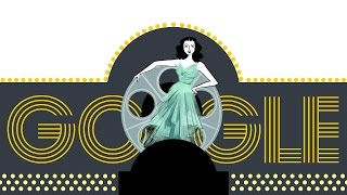 Hedy Lamarr's 101st Birthday Google Doodle thumbnail