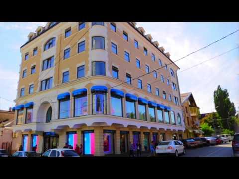 Transparent LED facade display for Rive Gauche' Pyatigorsk 's store