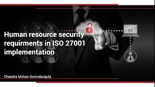 Human resource security requirements in ISO 27001 implementation