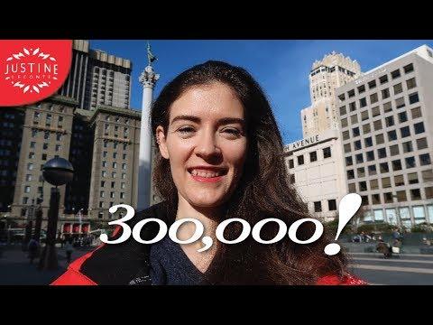300,000 subscribers ǀ San Fransisco VLOG ǀ  Justine Leconte