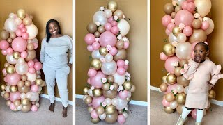 Easy 6 foot Organic Balloon Column Tutorial | DIY