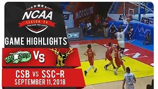 NCAA 94 MB: CSB vs. SSC-R | Game Highlights | September 11, 2018