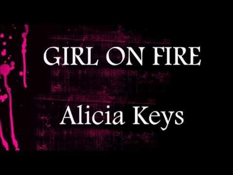 Girl On Fire  - Alicia Keys    Piano Lower Key Karaoke (-2)