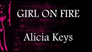 Girl On Fire - Alicia Keys || Piano Lower Key Karaoke (-2)