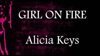 Gambar cover Girl On Fire  - Alicia Keys || Piano Lower Key Karaoke (-2)