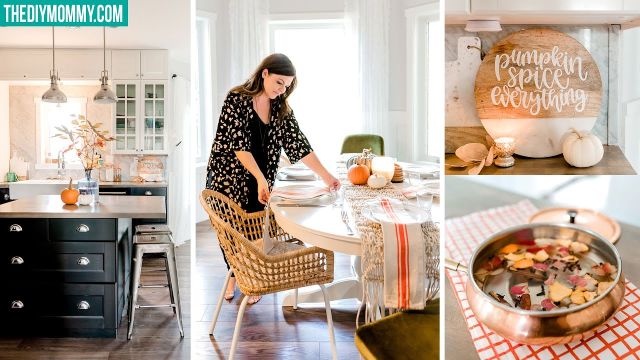 KITCHEN DECORATING IDEAS for Fall that are so easy!