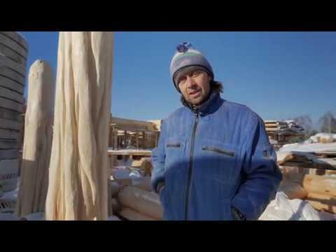 Резные столбы из сибирского кедра Свободный стиль. Линии должны звучать...