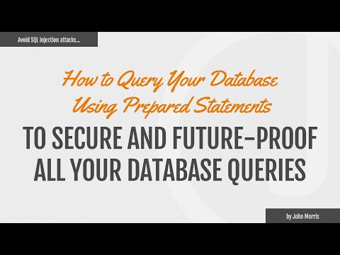 How To Query Your Database Using Prepared Statements With MySQLi And PDO