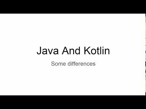 Kotlin and Java differences
