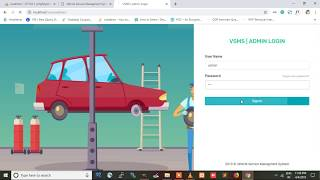 VEHICLE SERVICE MANAGEMENT SYSTEM using PHP and MYSQL