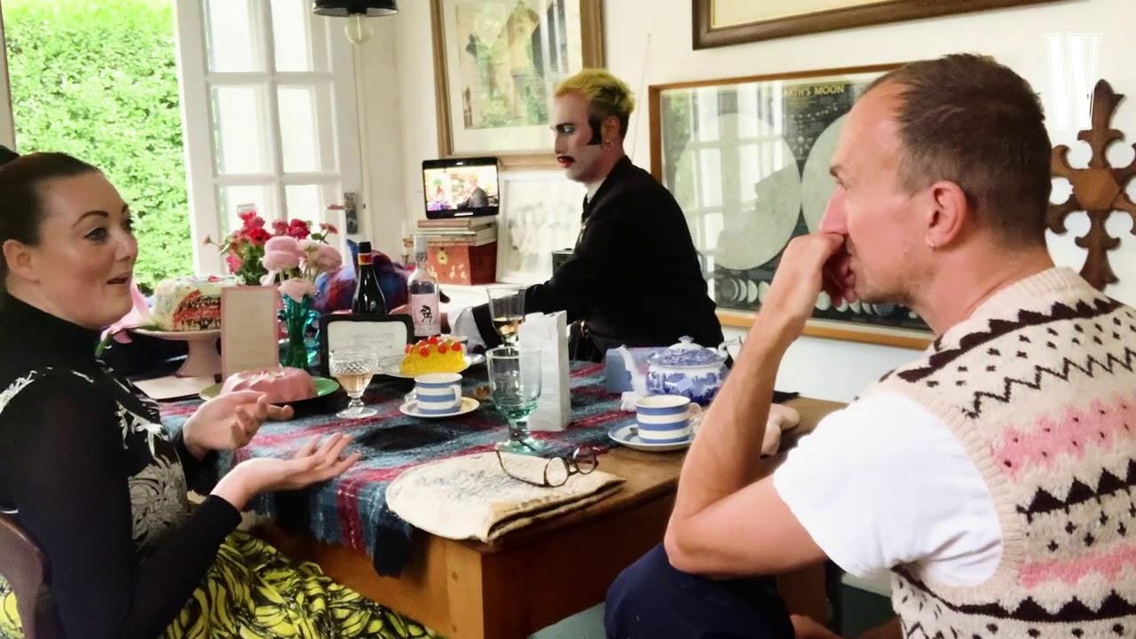 Tea Time with Tim Walker, Charles Jeffrey, and Lucy Bridge | W Magazine