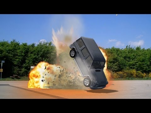 car bomb explosion effect - green screen