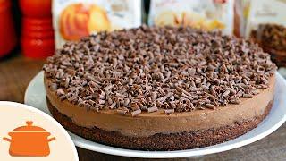 Bolo-Mousse de Chocolate Delicioso