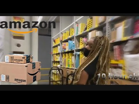 A day at Amazon | 10 hour shift... Being a Stower....