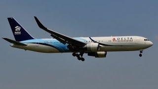 デルタ・ハビタット(Habitat)Delta Air Lines(Boeing 767)Landing Narita RWY16R!!成田空港!!