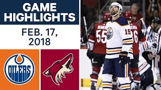 NHL Game Highlights   Oilers vs. Coyotes - Feb. 17, 2018