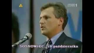 Spot wyborczy Aleksandra Kwaśniewskiego - Wybory Prezydenckie 1995 (Olek olek-Top One)