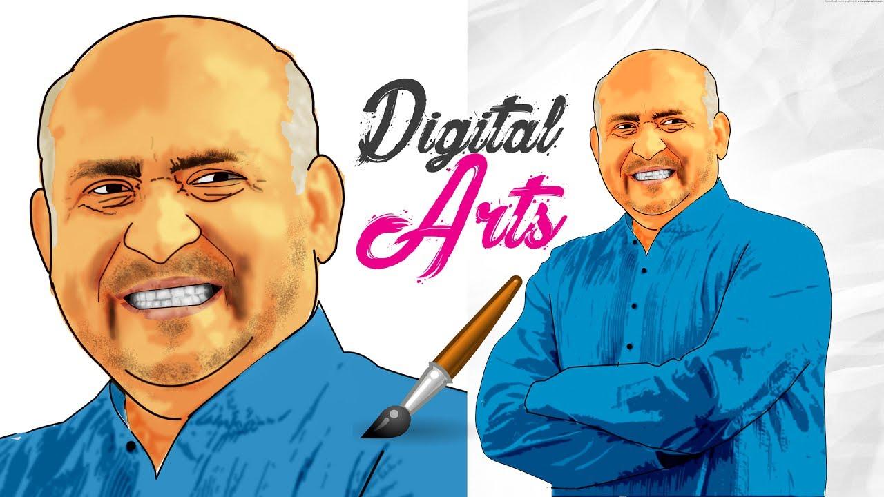 அழகான டிஜிட்டல் ஓவியம் | Beautiful Digital arts of Fr. S.J Berchmans