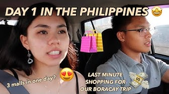 PHILIPPINES VLOG 2: OUR FIRST DAY! (LAST MINUTE SHOPPING FOR BORACAY TRIP)