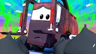 Toms Autowaschanlage -  Klein Gary - Autopolis  💧 Lastwagen Zeichentrickfilme für Kinder